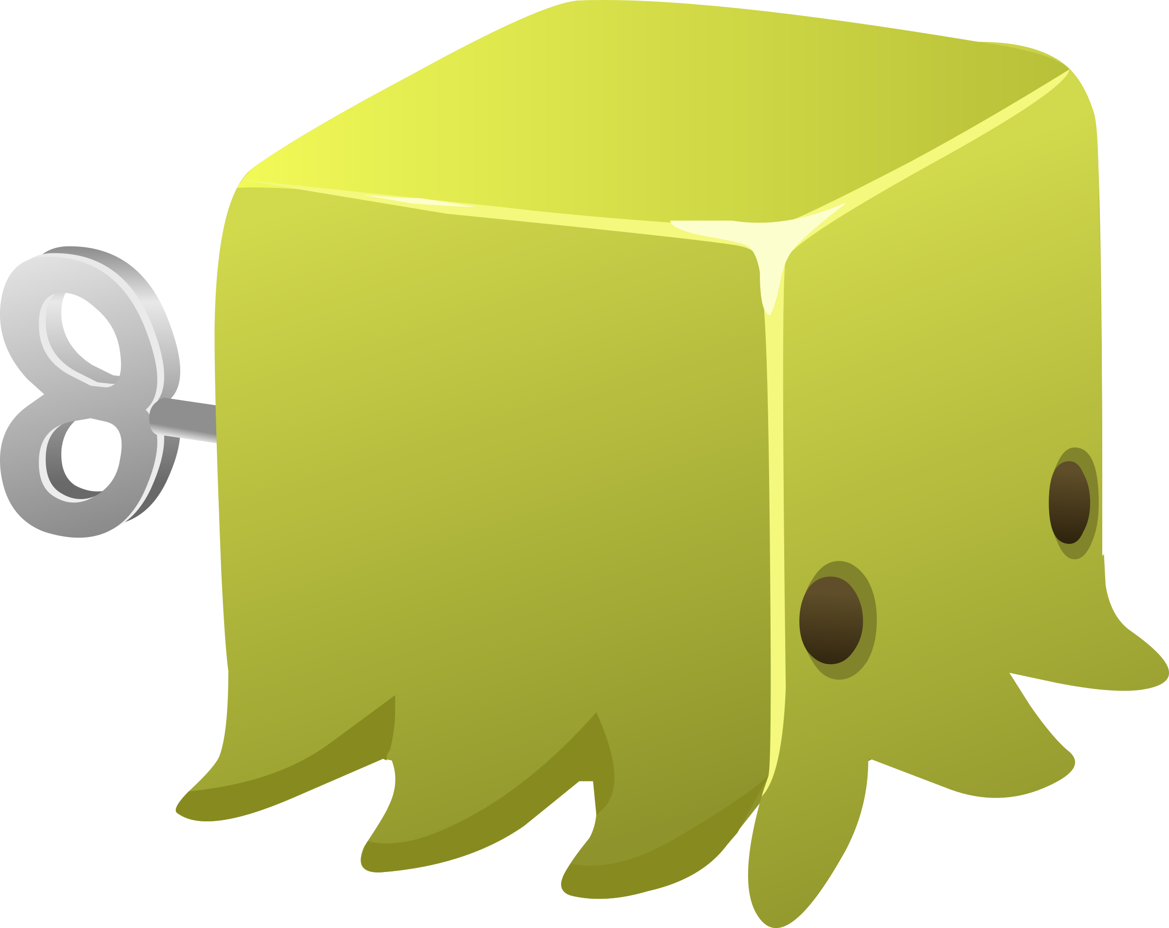 Glitch clipart yellow BIG Squid Cubimal Clipart IMAGE