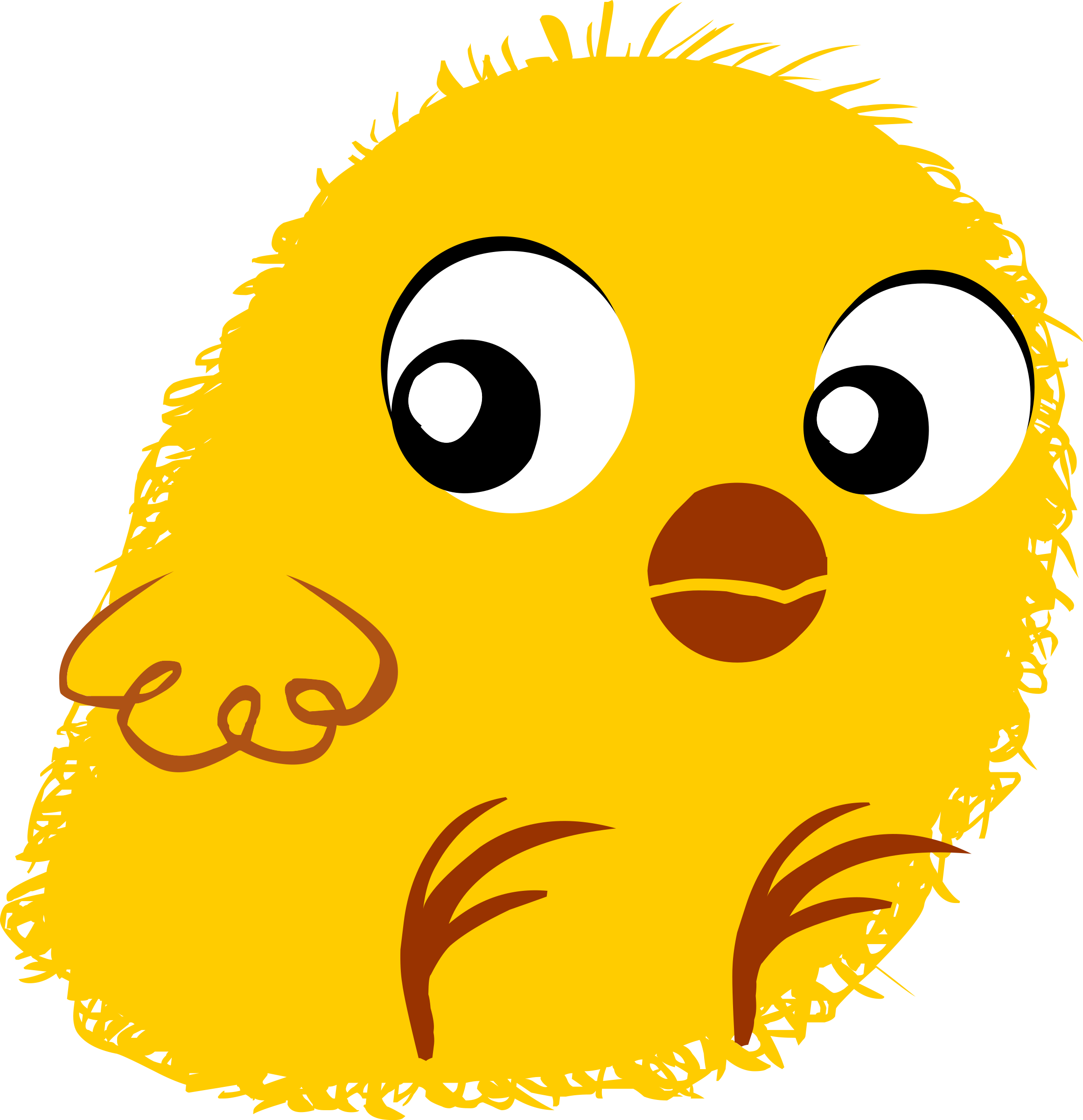 Glitch clipart yellow BIG Inhabitants Clipart IMAGE Chick