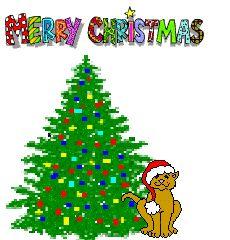 Christmas Tree clipart scene  Christmas Art tree Clip