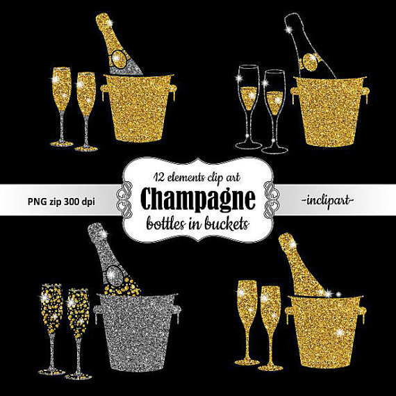 Champagne clipart gold Clipart silver format Clipart download