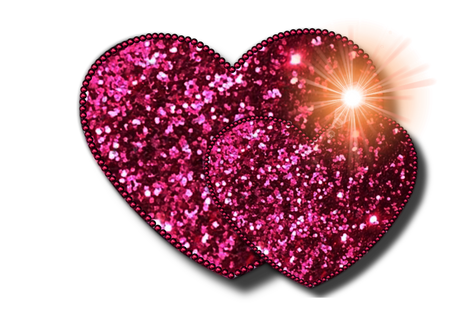 Hearts clipart pink sparkle Glitter Clip Free outline Heart
