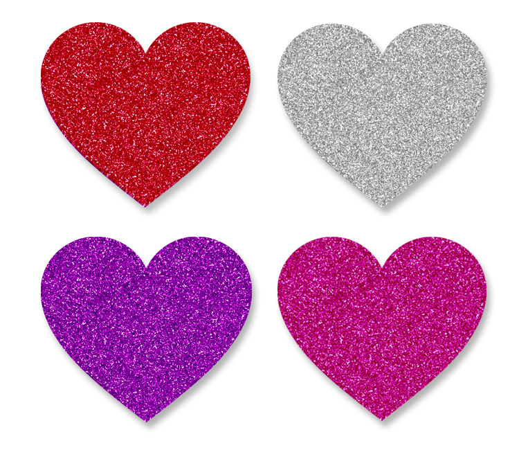 Hearts clipart pink sparkle FREE Design Glitter Hearts DOWNLOAD