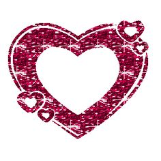 Hearts clipart pink sparkle One Glitter 006 animation glitter