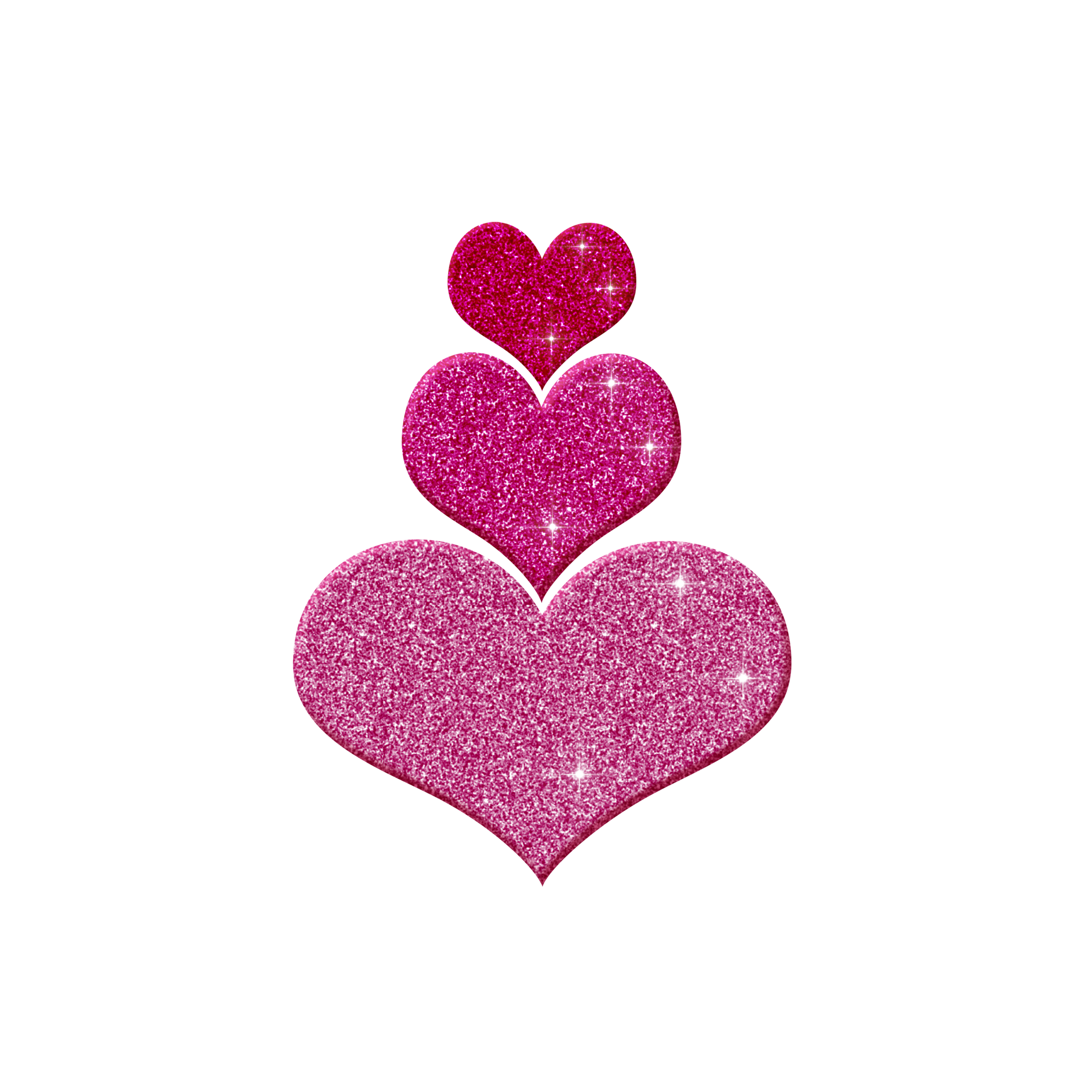 Hearts clipart pink sparkle Pink Free Heart library Creations