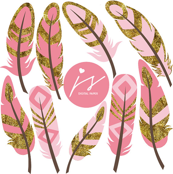 Pink Rose clipart pink gold Light Drawn Light Pink Digital