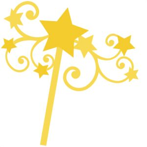 Yellow clipart wand SVG Star Scrapbooking wand Miss