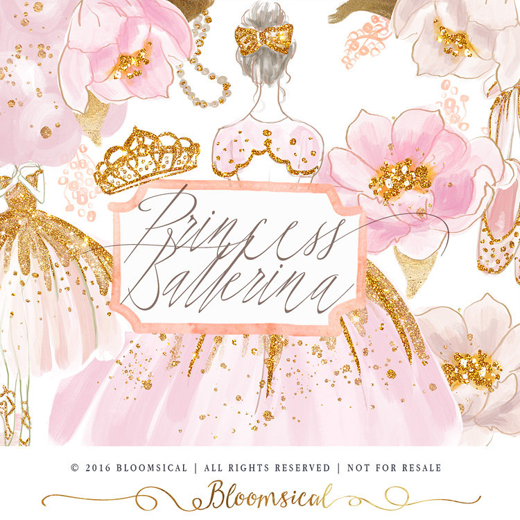 Ballerine clipart princess ballerina Art Drawn tiara Hand Tiara