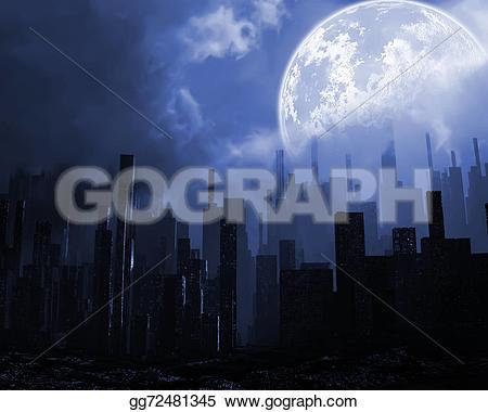 Gloomy clipart apocalypse   illustration Clipart field