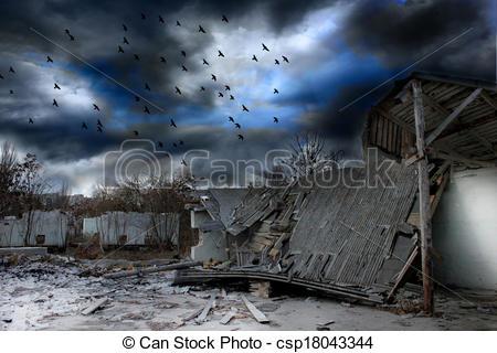 Gloomy clipart apocalypse Gloomy Drawing of apocalypse apocalypse