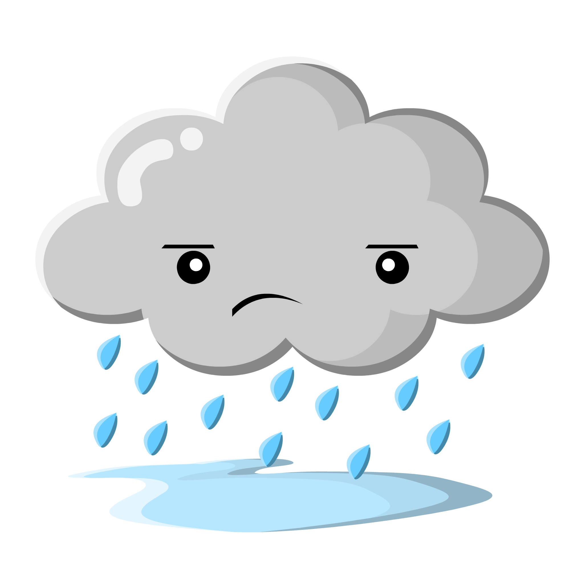 Gloomy clipart grey cloud WikiClipArt clipart Rain clipart 10