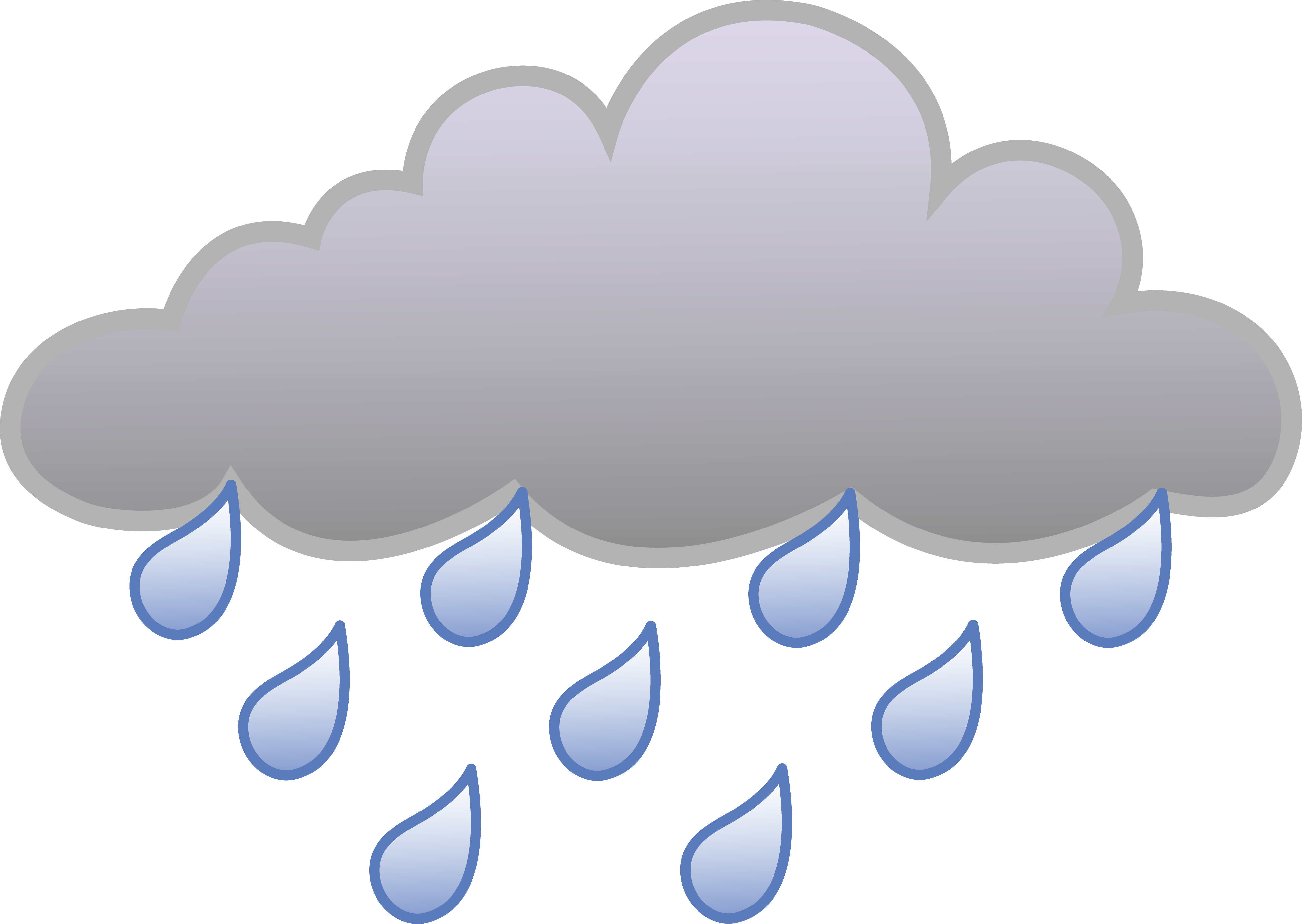 Thunder clipart weather symbol Free Cloud Rain And Free