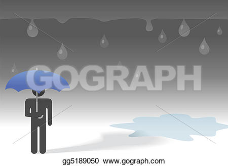 Gloomy clipart rainy day Symbol the weather umbrella day