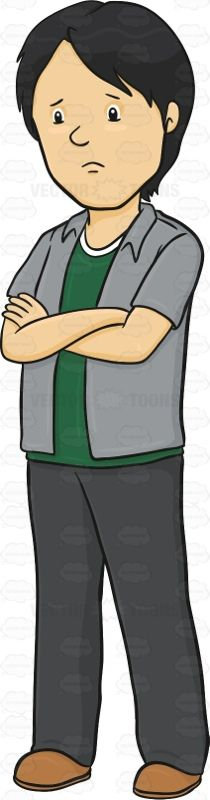 Gloomy clipart sad person Looking Clipart Guy Gloomy Cartoon