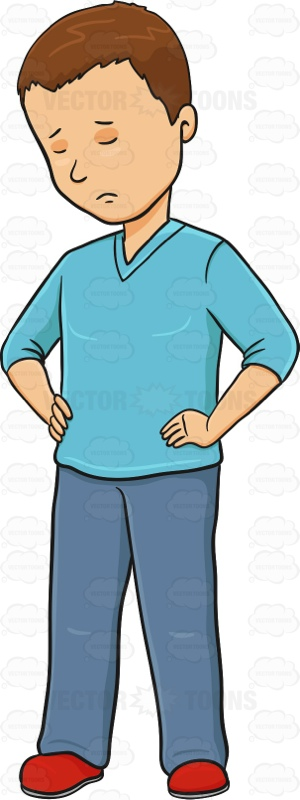 Gloomy clipart sad person Young Hips Man Lonely On