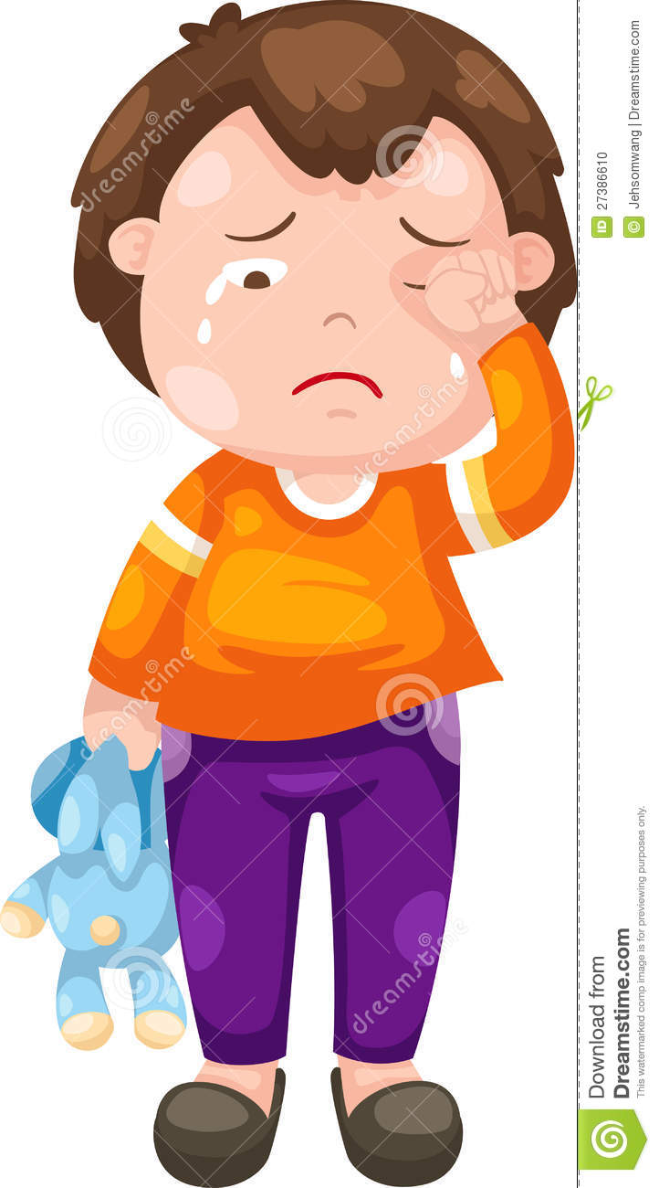 Sadness clipart sad little boy #3