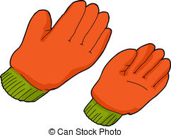 Glove clipart farmer tool Vector clip Clipart Pair orange