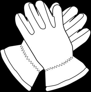 Glove clipart Outline online Gloves Clip Art
