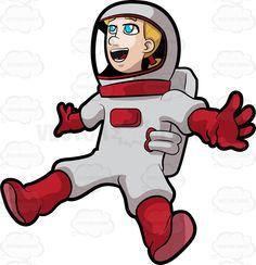 Glove clipart astronaut Clipart a Crescent Female a