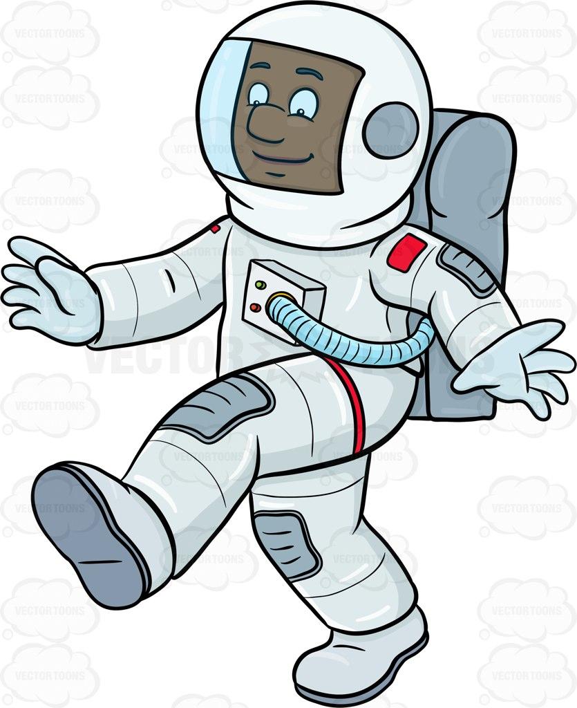 Glove clipart astronaut Enjoys On Cartoon A Him