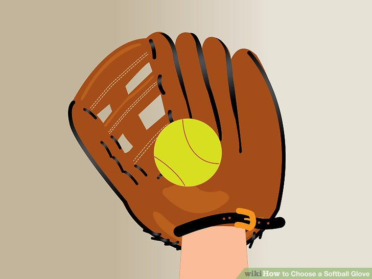 Glove clipart baseball equipment Softball Glove to a 6