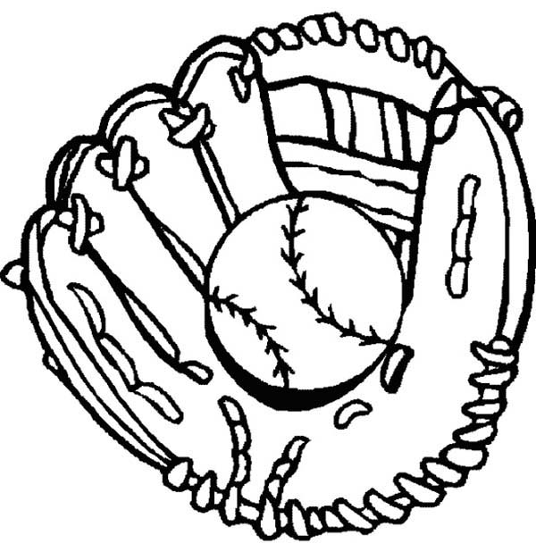 Glove clipart baseball equipment Baseball Coloring and and :