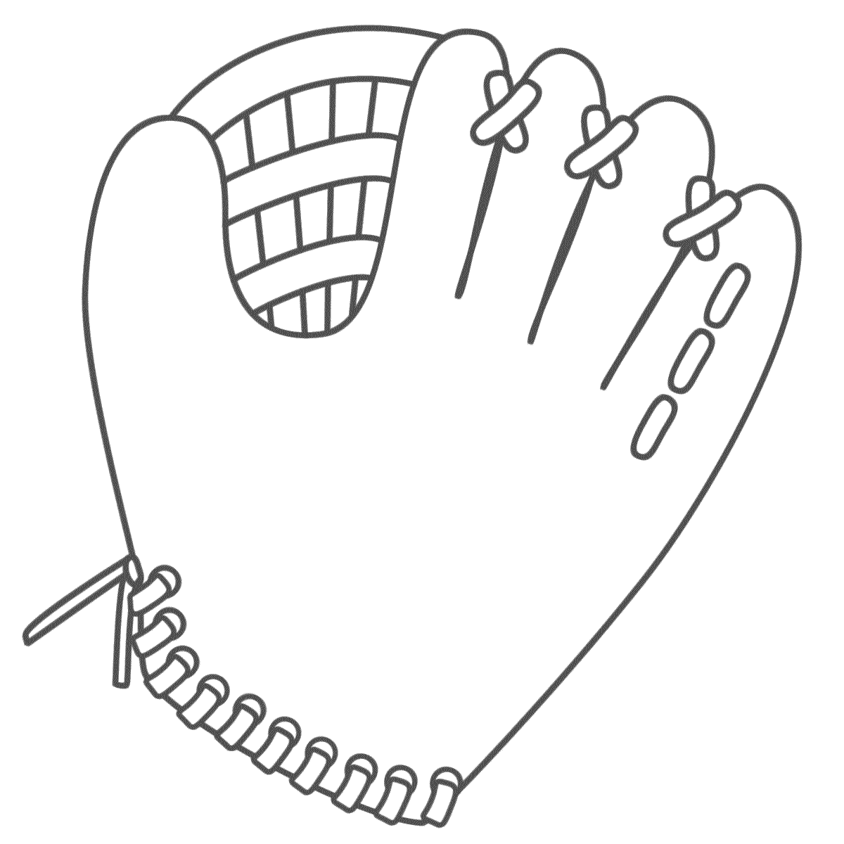 Glove clipart baseball equipment Page (Father's Coloring Day) Baseball