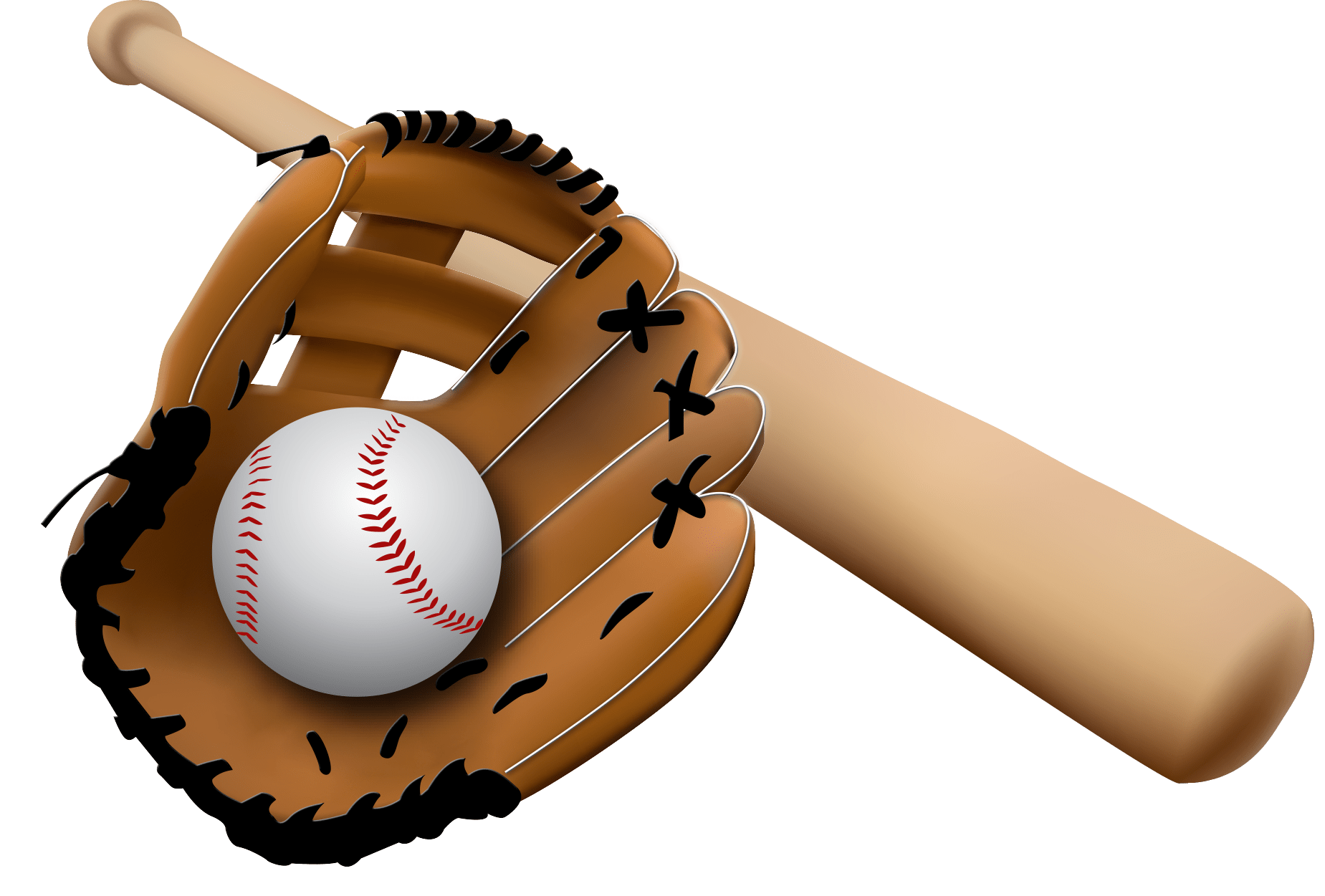 Glove clipart baseball equipment Old Baseball PNG Bat Ball