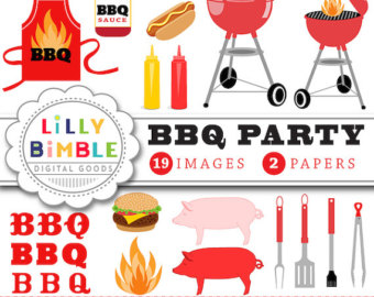 Barbecue clipart bbq party Ketchup hot apron BBQ grill