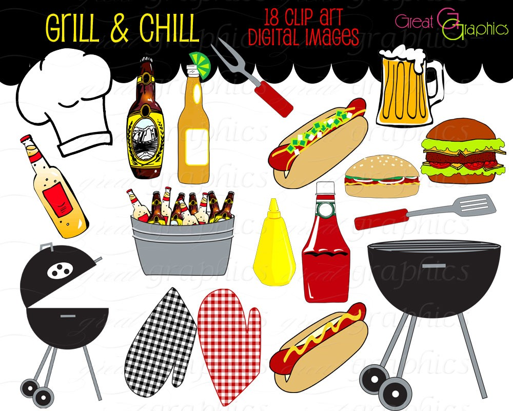 Barbecue Sauce clipart barbecue meat Clipart Clip Etsy Clip Art