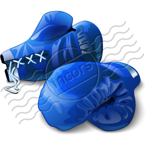 Glove clipart blue Gloves Boxing vector Free