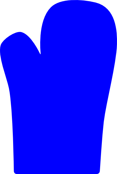 Glove clipart blue Oven  Download clip Art