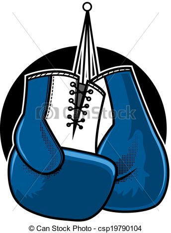 Glove clipart blue  boxing Boxing  Clip