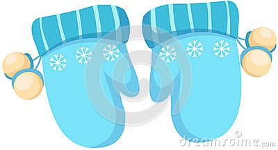 Glove clipart blue Winter Clipart Winter Clip Gloves