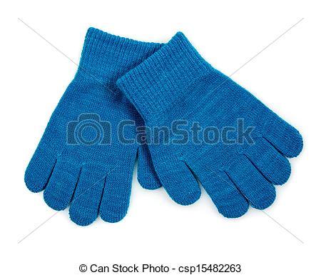 Glove clipart blue Csp15482263 Gloves Blue Winter Knit