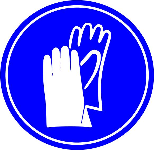 Glove clipart blue Clip Sign Gloves Art Download