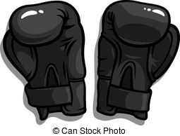 Glove clipart boxing Illustration black Clip  Gloves