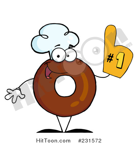 Glove clipart chef A and Wearing Wearing Donut