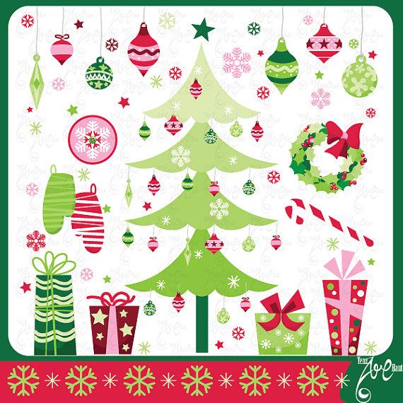 Glove clipart christmas Christmas ClipArt Il_570xn CLIP ART