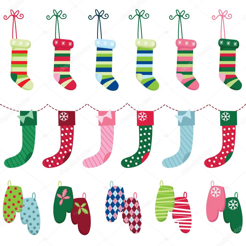 Glove clipart christmas By and and Stock Glove