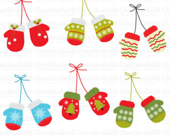 Sanya clipart mittens Glove files Etsy Instant EPS