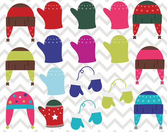 Glove clipart clothes Winter Gloves Hats Clothing Winter