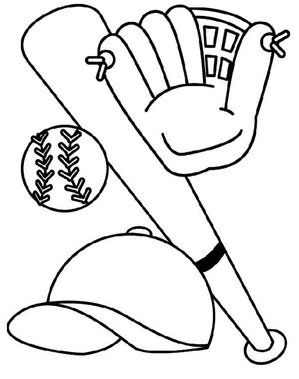 Drawn baseball coloring page  Print baseball Clipart pages