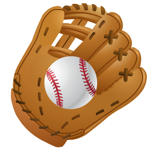 Glove clipart cute  Clip Baseball Clip Little