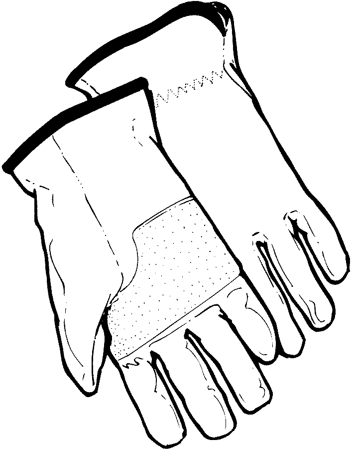 Glove clipart garden glove  Pages Gardening Coloring
