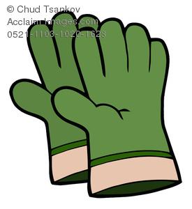 Glove clipart gardening glove Gloves of Clipart Image Image