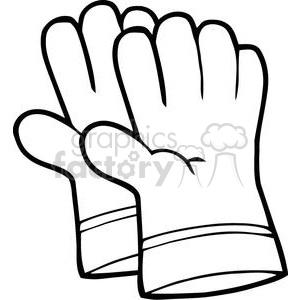 Glove clipart gardening glove Gloves gardening clip black black