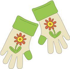 Glove clipart gardening glove Info gloves Gardening gloves Gardening