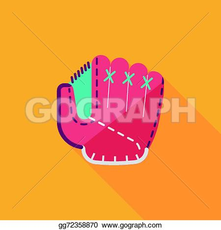 Glove clipart long Vector shadow Baseball long glove