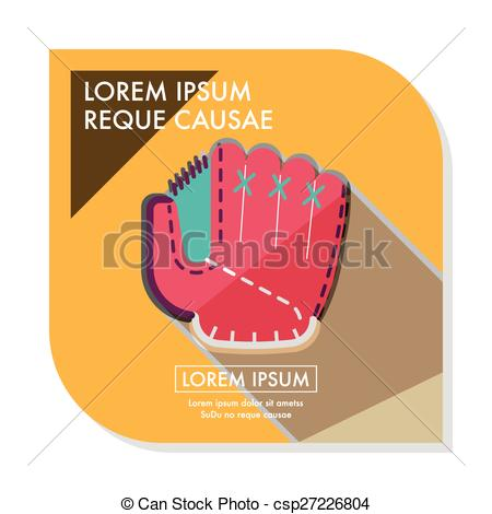 Glove clipart long Vector with glove shadow flat