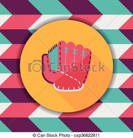 Glove clipart long Vector icon glove shadow flat
